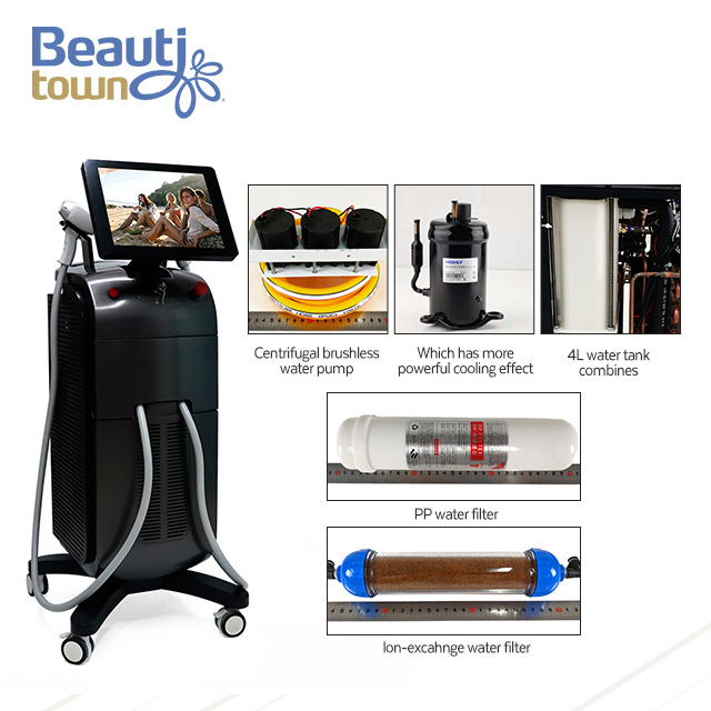 laser hair removal machine price 3 wavelength latest generation device