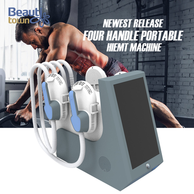 portable ems 4 handles fitness system fast muscle building weight loss machine